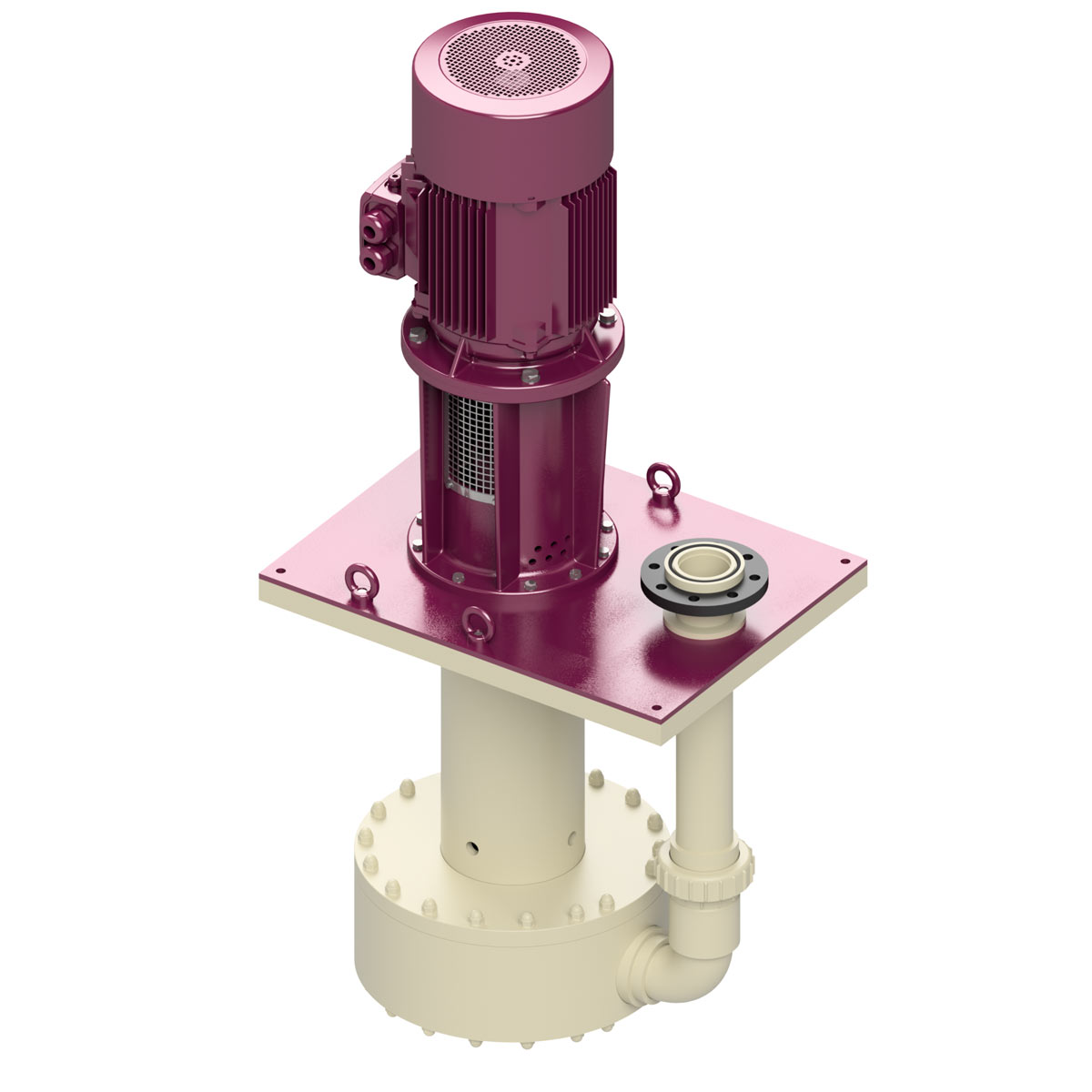 Vertikale centrifugal pumper