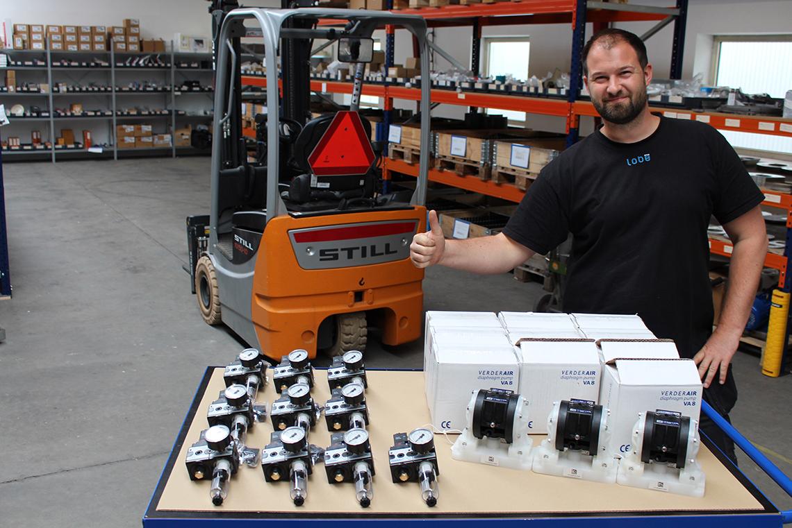 Verderair afsendes med stor glæde på lageret i Vamdrup
