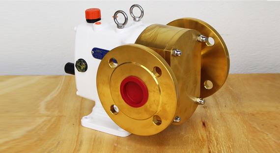 Lobepumpe til pumpning af slidende medier (høj saltkoncentration)